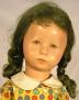 Käthe Kruse Puppe XII mit grünlichen Haaren