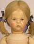 Käthe Kruse Puppe IX mit Craquelées, unbekleidet