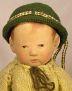 Alte Käthe Kruse Puppe Eins, restauriert