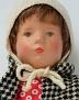 Käthe Kruse Puppe Gabriele im Mantel von 1960