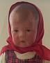 Puppe I (schlank) mit rotem Kopftuch