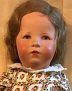 Käthe Kruse Puppe XII antikes Glückskind mit Haaren